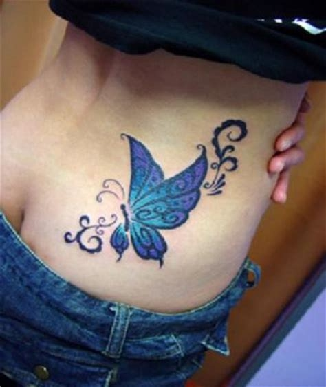 butterfly tattoo on hip for women meaning pictures