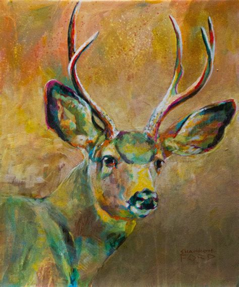 acrylic painting deer available wildlife paintings shannon ford artist