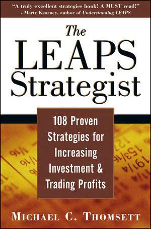Stock Profits Michael C Thomsett wileytrading the leaps strategist 108 proven strategies