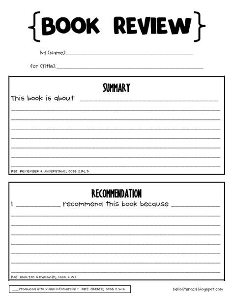 book report forms for 4th grade free printable book report forms for 4th grade free