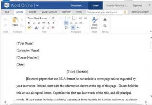 Research Paper Template Microsoft Word by Mla Style Paper Template For Word With Mla Guidelines And