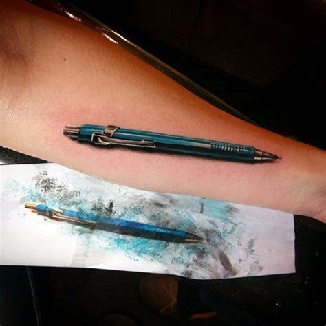 cool pen tattoos 60 pencil designs for graphite ink ideas