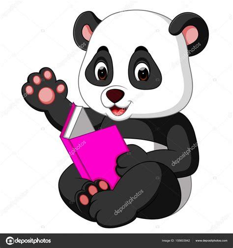 panda leyendo un libro vector de stock 169 hermandesign2015 gmail com 155603942