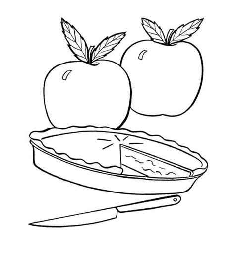 coloring page apple pie apple pie free colouring pages