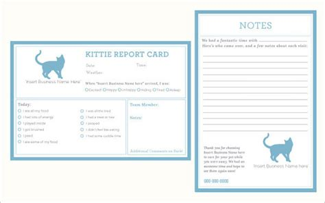 free pet sitting report card template 20 report card templates doc pdf psd free premium