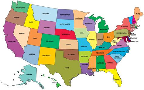 america map large top 10 states for hvac