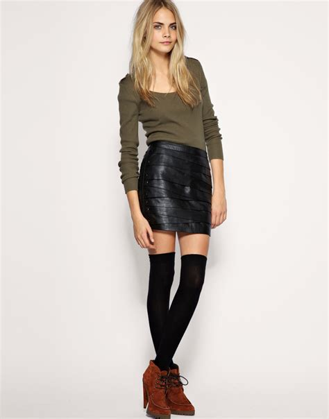 asos leather skirt the pessimiss