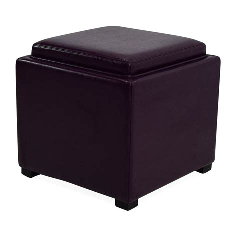 leather ottoman with storage 73 off crate and barrel crate barrel leather storage