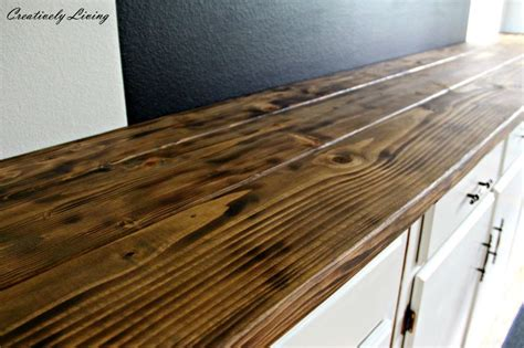 making wood bar top torched diy rustic wood counter top for under 50 by