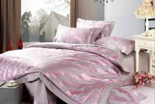 Pink And Grey Bed Sets Aliexpress Buy Whole Sale Retailing 4pcs 60s Cotton Jacquard Pink Grey Bedding Set Bed