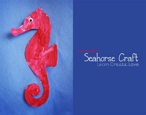 seahorse crafts for printable seahorse craft