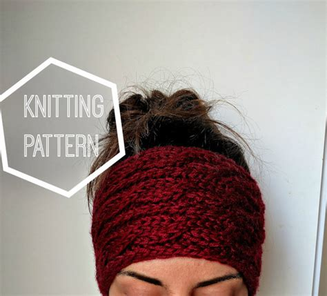 knitted ear warmer pattern chunky cable knit ear warmer pattern knitting patterns for