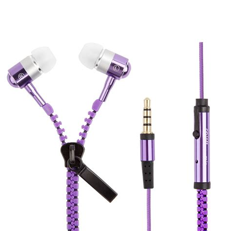 Headset Zipper Earphone Resleting Mic 1 bass sport zipper earphone stereo headset ear phone buds headphones microphone for