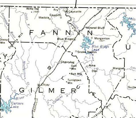 fannin county texas map georgiainfo
