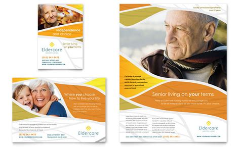 ad template assisted living flyer ad template design