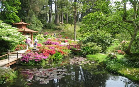 Flower Garden Japan Japanese Garden Wallpapers Wallpaper Cave