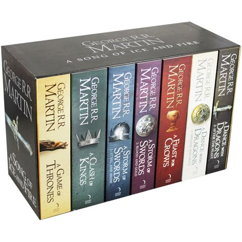 of thrones books of thrones a song of and 7 book box set