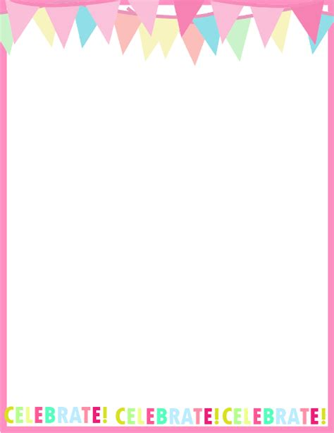 birthday card border templates fresh designs birthday borders for invitations and more