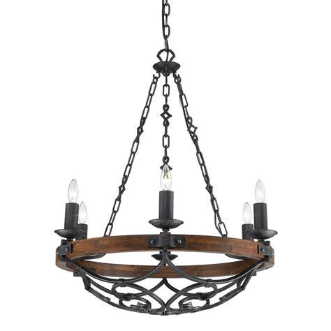 iron chandelier vargas collection 6 light black iron chandelier 826mpbi the home depot
