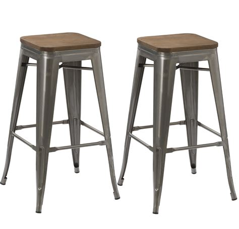 bar stool is made from 1 inch steel pipe this is test btexpert 30 inch industrial stackable tabouret vintage