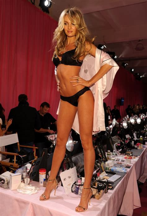 Backstage At The Victorias Secret Fashion Show Models In Baby by Candice Swanepoel Backstage S Secret Fashion