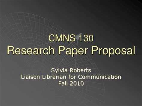 Presentations On Research Papers by Ppt Cmns 130 Research Paper Powerpoint Presentation Id 2383815