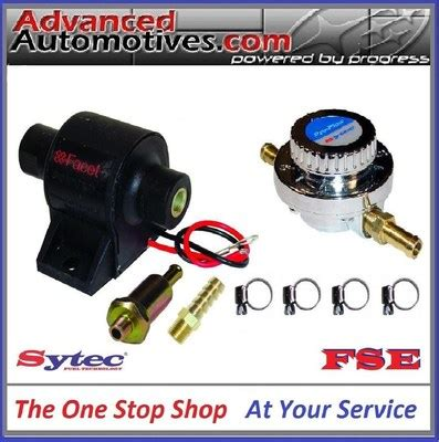 facet posi flow fuel pump and sytec 8mm adjustable fuel