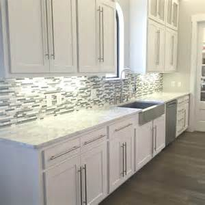 white glass tile backsplash kitchen a kitchen backsplash transformation a design decision