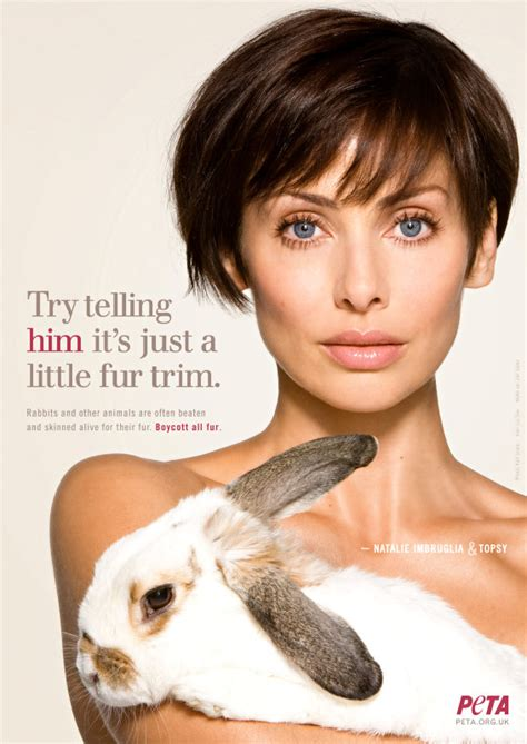 hairby minklittle natalie imbruglia strips off for peta s anti fur caign