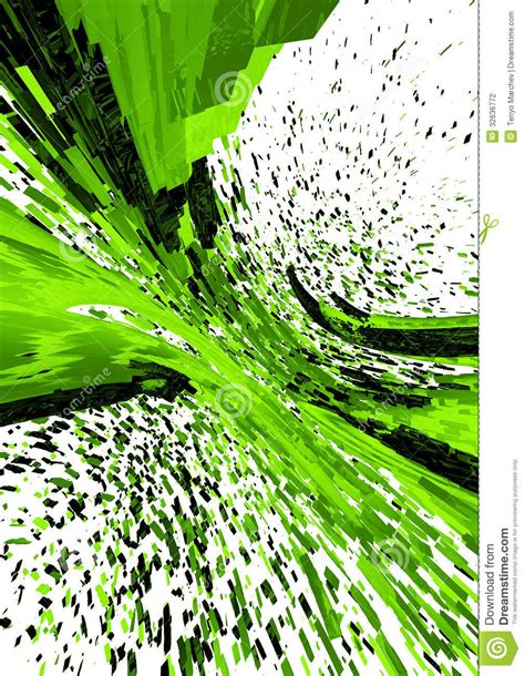 green plans 3d abstract background stock illustration illustration of computers 32636772