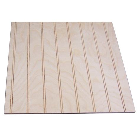birch beadboard 32 sq ft unfinished birch paneling with 1 1 2 in