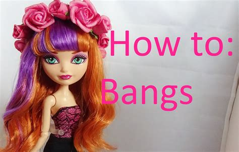 cut hairstyles for dolls how to give no cut bangs to doll hair by eahboy youtube