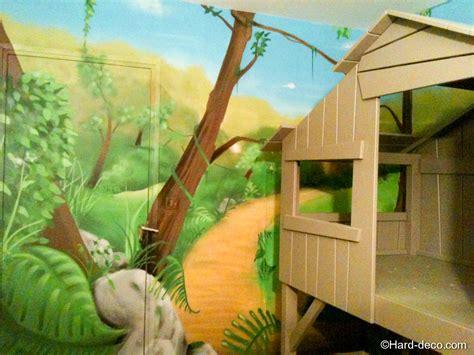 lit cabane avec d 233 coration jungle deco