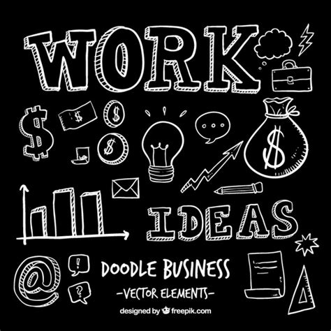 doodle business free doodle business elements vector free
