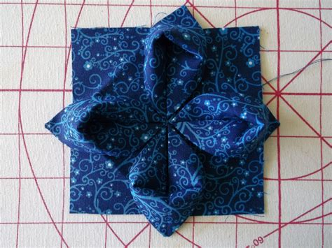 Origami Fabric Flowers - asg in the slc embellish with origami fabric flowers