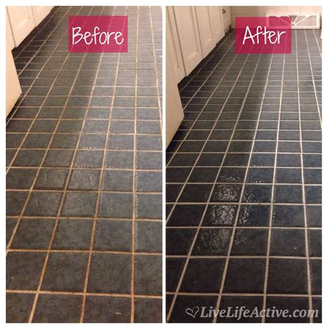how to get bathroom grout white again diy grout refresh live life active fitness blog