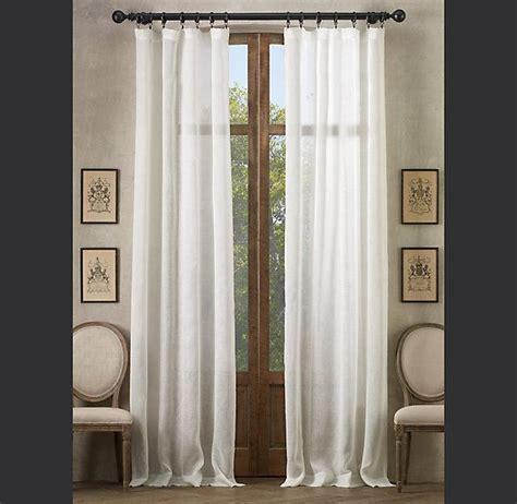 restoration hardware sheer curtains restoration hardware 187 sheer belgian linen 187 sheer belgian