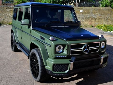 mercedes g wagon green g63 amg matte military green car wrap reformauk auto