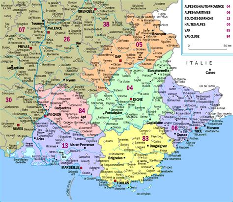 infos sur carte de la provence arts  voyages