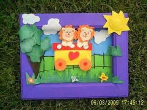 cuadro con goma eva decoracin de cuadro con goma eva como hacer un cuadro infantil con goma eva 5 youtube
