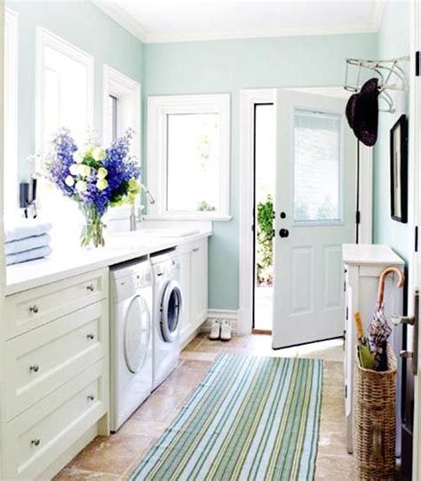 the turquoise walls are perfection martha stewart this laundry room paint colors