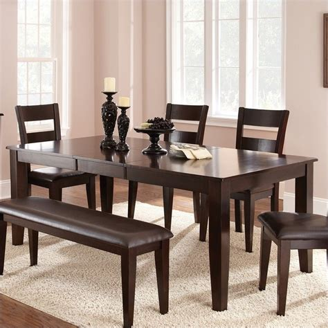 espresso dining room sets steve silver victoria 5pc room table espresso dining set