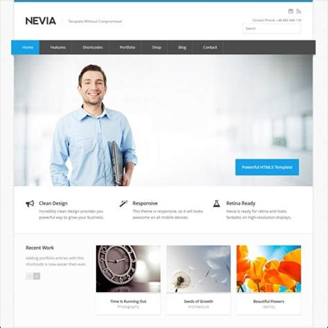 free website templates for business in html5 5 attractive business website templates for wordpress