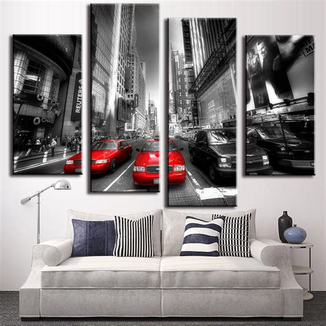 New Arifal Set Overall Sweety 4 pcs set new arrival modern wall painting canvas wall picture taxis combined paintings
