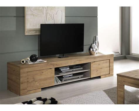 meuble de tv meuble tv design 2 portes et 1 niche mila meuble robuste au coloris bois pour une ambiance de