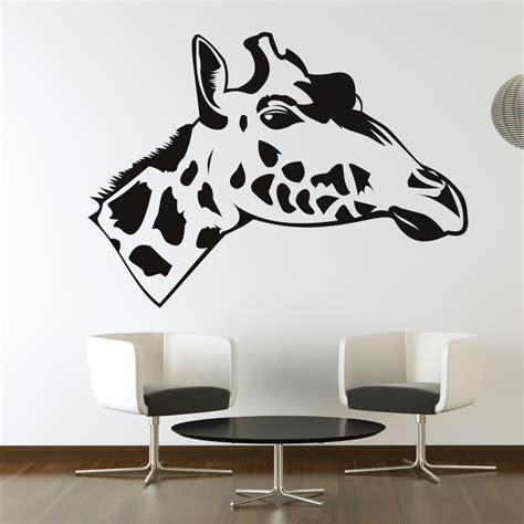 wall stickers giraffe giraffe side view wall stickers wall decals transfers ebay