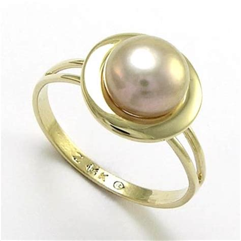 anzor jewelry 14k yellow gold lavender pearl ring