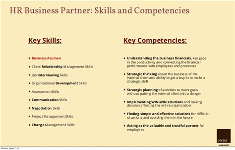 hr business partner resume sle key skills for hr resume 55 images resume key skills