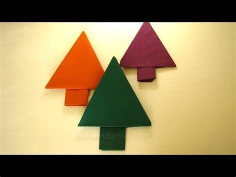 weihnachtsdeko basteln servietten falten tannenbaum youtube