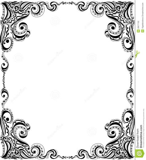 pattern frame template template frame design for card floral pattern stock